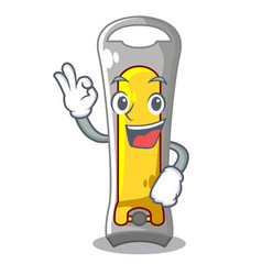 okay nail cutter in isoslated on mascot vector image
