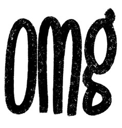 omg hand drawn calligraphic grunge brush stroke vector image