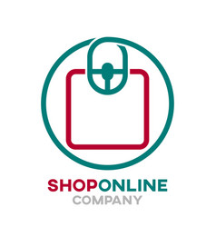 online store logo vector image
