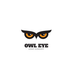 owl eye logo vector image