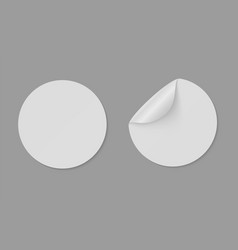 paper round stickers with curled edge circle vector image