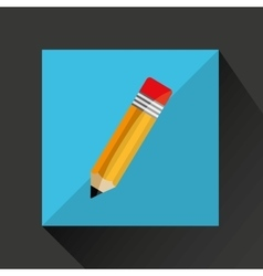 Pencil cartoon writing shadow and purple vector
