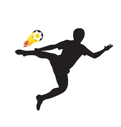 Player shot the fire ball design elements vector image