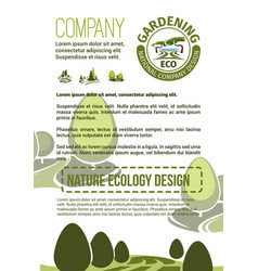 Poster for nature landscaping company vector