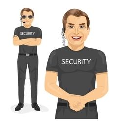 Professional security guard vector