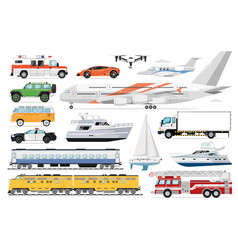 public transport set passenger vehicle vector image