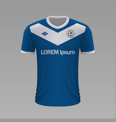Realistic soccer shirt 2020 vector