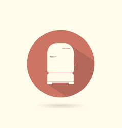 refrigerator round flat icon vector image