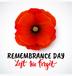 Remembrance day poster design with vector