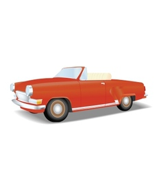 Retro red cabriolet vector image