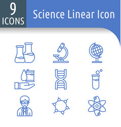Science outline icon vector
