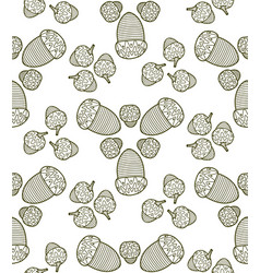 Seamless pattern from graphic acorns vector
