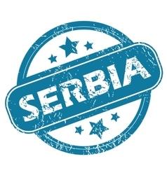 SERBIA round stamp vector