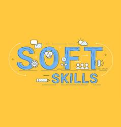 Soft skills concept sign outline vector