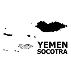 Solid and mesh map socotra archipelago vector