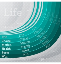 Sport life abstract background vector