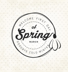 Spring Typography Background in Vintage Style vector image