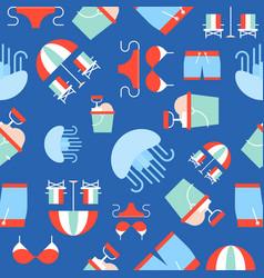 summer theme seamless pattern jelly fish bikini vector image