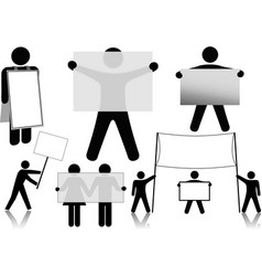 Symbol People Hold Sign Background Spaces vector image