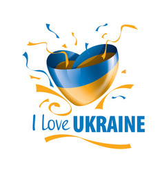 the national flag ukraine and the vector image