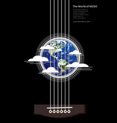 the world of music poster vector image