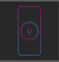 voice assistant ui app concept with sound wave vector image