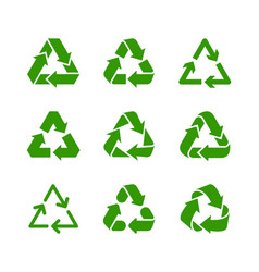 waste recycling and environmental protection sign vector image