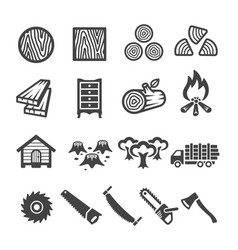 wood icon vector image