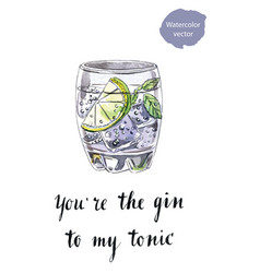 Youre the gin to my tonic vector