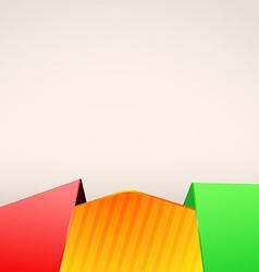 Bright folder red green border layout vector image vector image