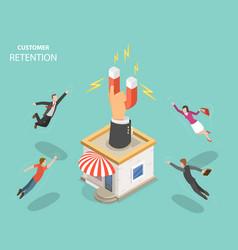 customer retention flat isometric concept vector image