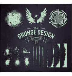 Dirty Grunge Elements Set 2 vector image vector image
