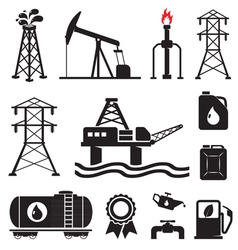 Gas oil set vector image vector image