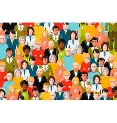 International crowd of people flat vector image vector image