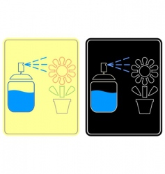 watering flower sign vector image vector image