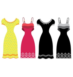Woman Summer Dress vector image vector image