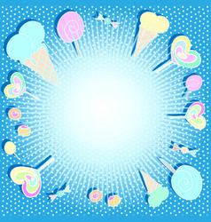 beautiful bright background with sweets vector image vector image