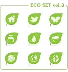 ecology icon set Vol 3 vector image