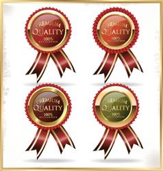 Premium quality golden label vector image