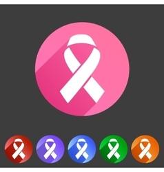 Ribbon icon flat web sign symbol logo label set vector image