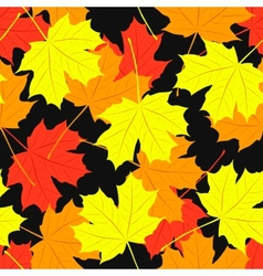 Seamless pattern of maple leaves of autumn vector image