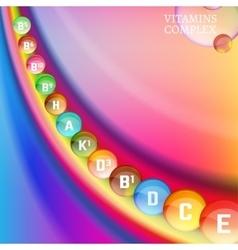 Vitamins Rainbow 04 A vector image vector image