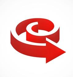3D arrow shape logo vector image