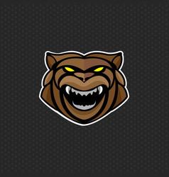 bear logo design template bear head icon vector image vector image