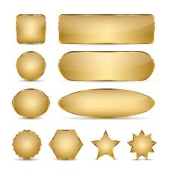 Blank Elegant Golden Buttons vector image