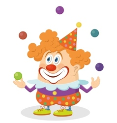 Clown juggling balls vector image