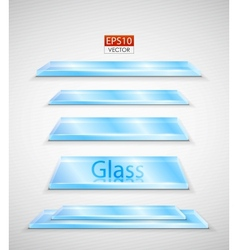 glass plates set vector image