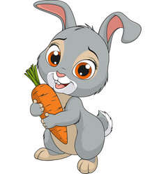 little funny bunny vector image
