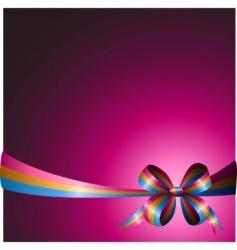 multicolored ribbon vector image