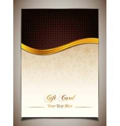Brown gift card vector image vector image
